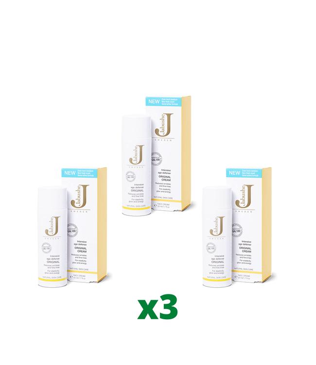 3 x Jabushe Original Cream, 50ml