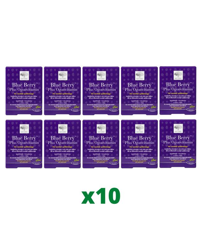10 x Blue Berry Plus Ögonvitamin, 120 tabletter