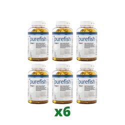 6 x Elexir Purefish Omega-3, 180 kapslar