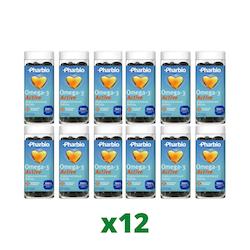 12 x Pharbio Omega-3 Active, 110 Kapslar