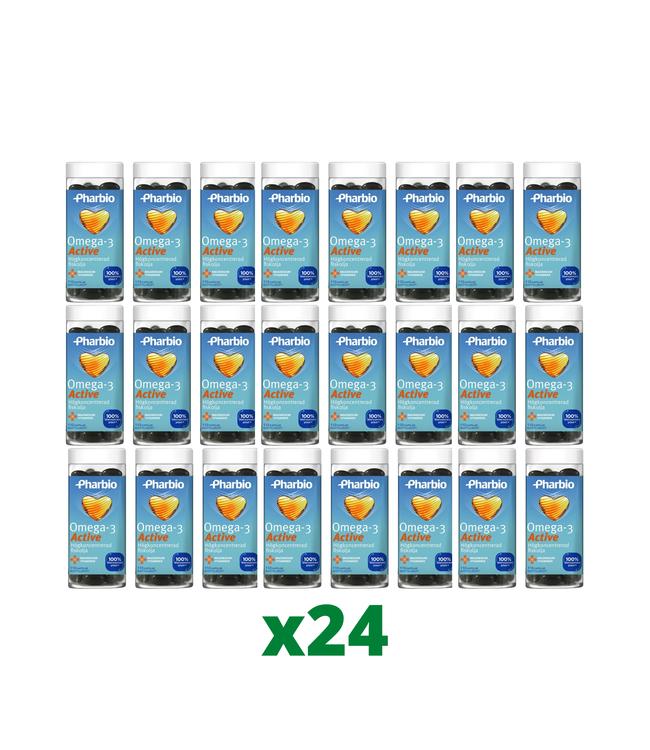 24 x Pharbio Omega-3 Active 110 Kapslar