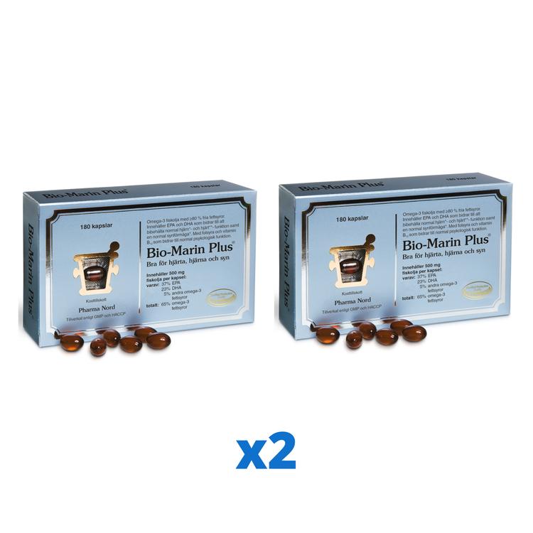 2 x Pharma Nord Bio-Marin Plus, 180 kapslar