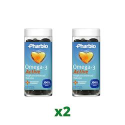2 x Pharbio Omega-3 Active, 110 Kapslar