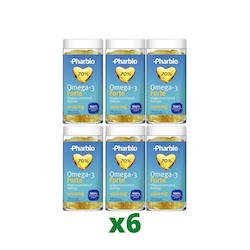 6 x Pharbio Omega-3 Forte, 120 kapslar