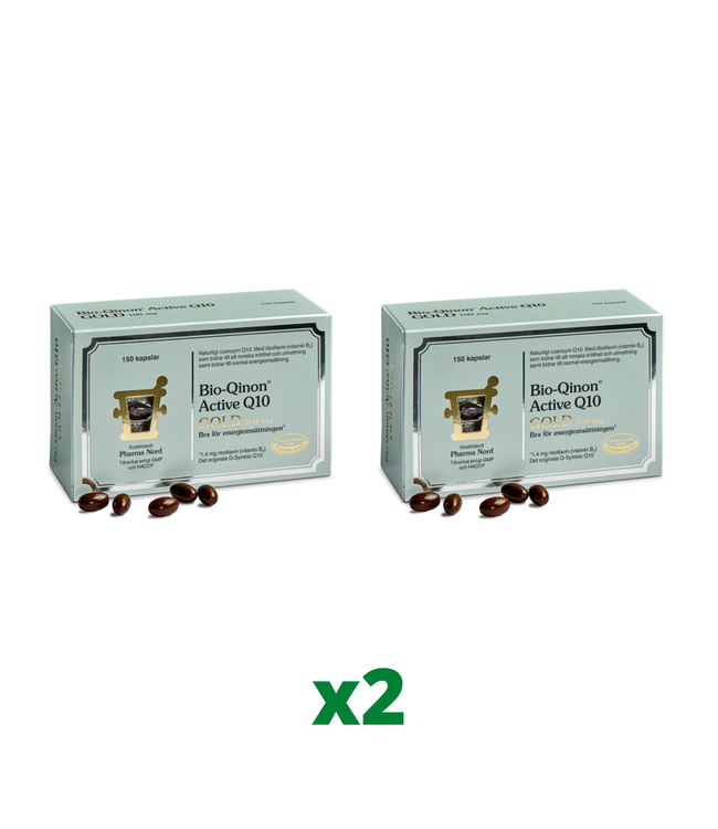 2 x Pharma Nord Bio-Qinon Q10 Gold 100mg, 150 kapslar