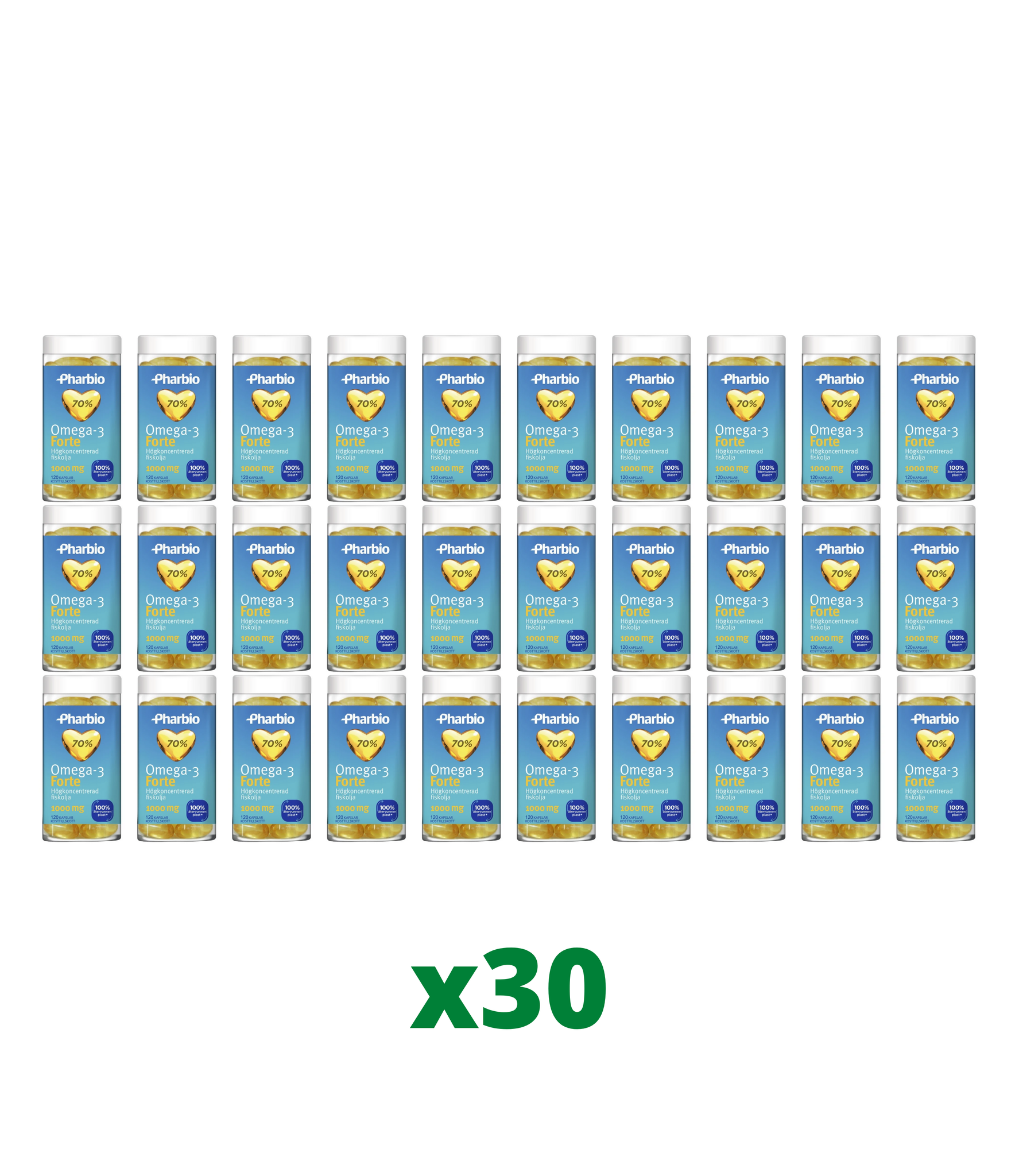 30 x Pharbio Omega-3 Forte, 120 kapslar