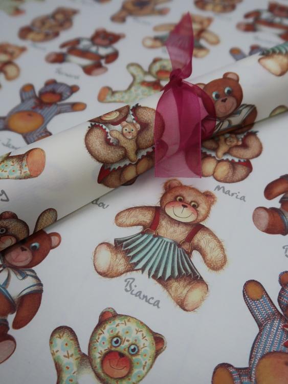 Pappersark teddybjörnar
