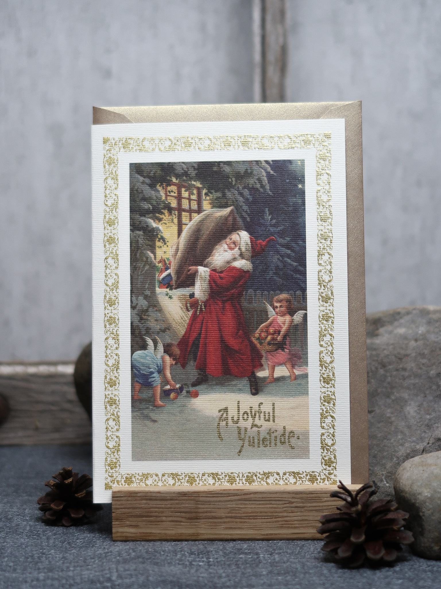 NYHET! Julkort vintage tomte