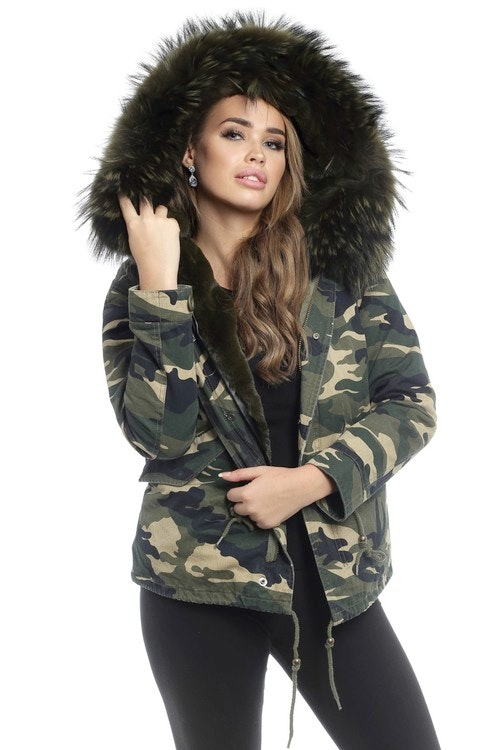 Karoszka Jacket Camouflage Dark Green Wery 109238AZM RED