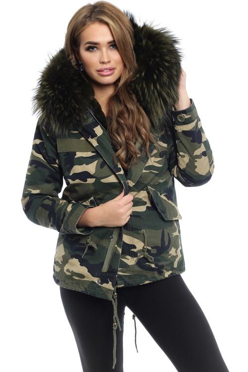Karoszka Jacket Camouflage Dark Green Wery 109238AZM RED
