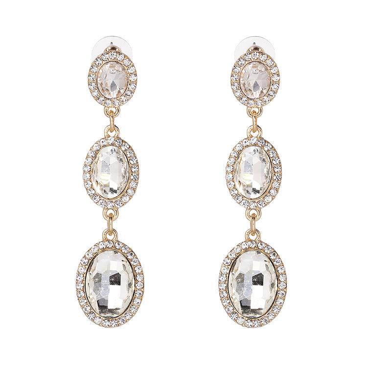 Danie Crystal Gold Earrings