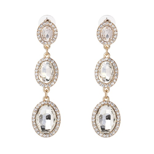 Danie Crystal Gold Earrings