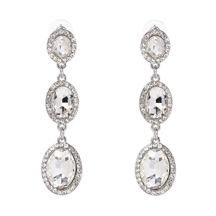 Danie Crystal Silver Earrings