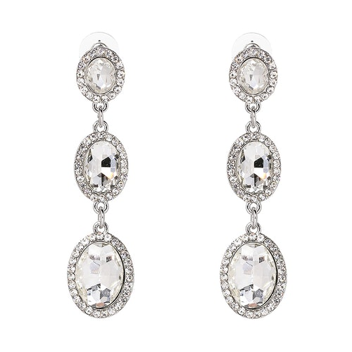 Danie Crystal Silver Earrings