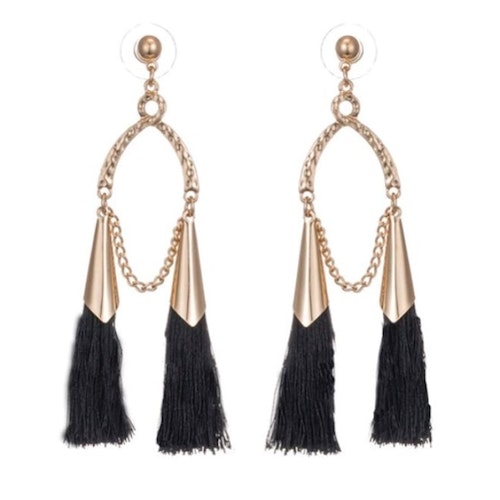Tina Earrings Black