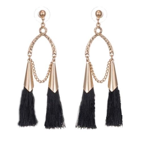 Tina Earrings Black
