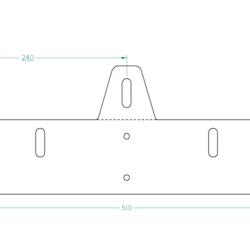 Extraljusfäste (210-225mm)