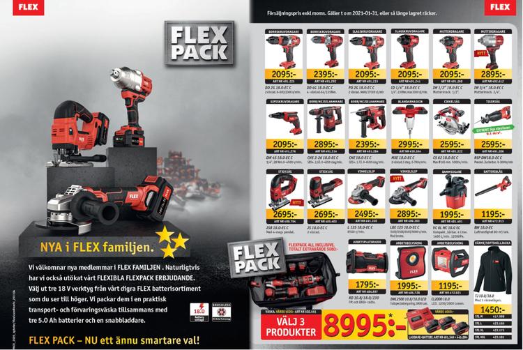 Flex Pack - Välj 3 valfria verktyg