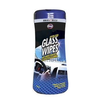 GLOSSER WIPES GLASS 40ST, CRYSTAL CLEAR