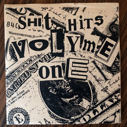 "VARIOUS Shit Hits Volyme One (White vinyl) (E - Finland original) (VG+) 7"""