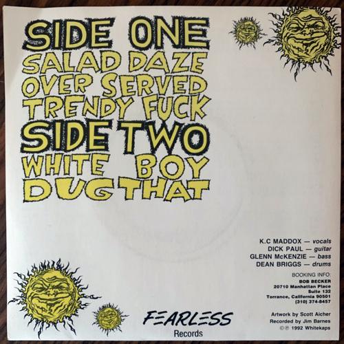 "WHITE KAPS Salad Daze (White vinyl) (Fearless - USA original) (EX) 7"""