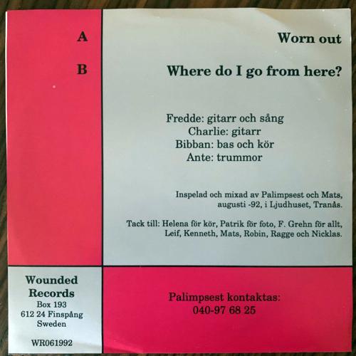 """PALIMPSEST Palimpsest (Wounded - Sweden original) (EX) 7"""""""