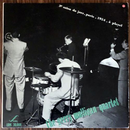 GERRY MULLIGAN QUARTET, the 3e Salon Du Jazz, Paris, 1954, À Pleyel (Swing - France original) (VG+/VG) LP