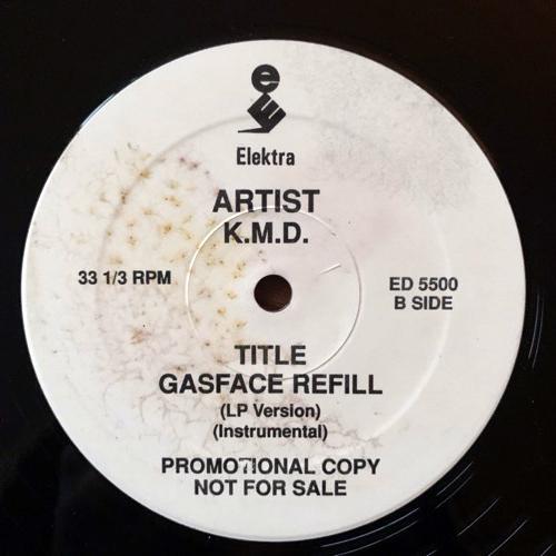 "KMD Peachfuzz/Gasface Refill (Promo) (Elektra - USA original) (VG+/EX) 12"""