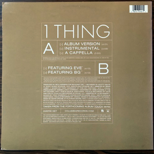 AMERIE 1 Thing (Columbia - USA original) (VG+) 12""