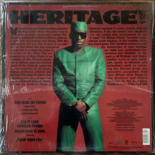 """KOOL MOE DEE African Pride (Jive - USA original) (EX/VG+) 12"""" EP"""