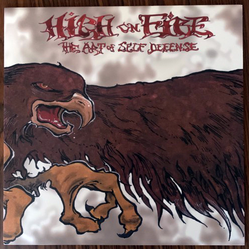 HIGH ON FIRE The Art Of Self Defense (Tee Pee - USA 2001 reissue) (EX) LP+7""