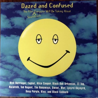 SOUNDTRACK Various – Dazed And Confused (Green marbled vinyl) (Rhino - USA original) (EX/NM) 2LP