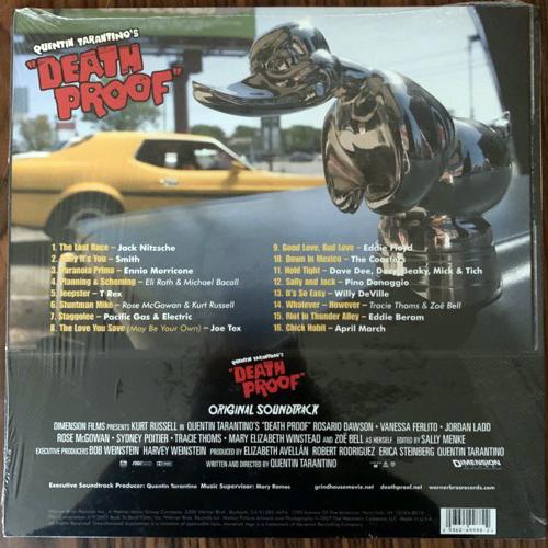 "SOUNDTRACK Various – Quentin Tarantino's ""Death Proof"" (Splatter vinyl) (Warner - USA original) (NM/EX) LP"