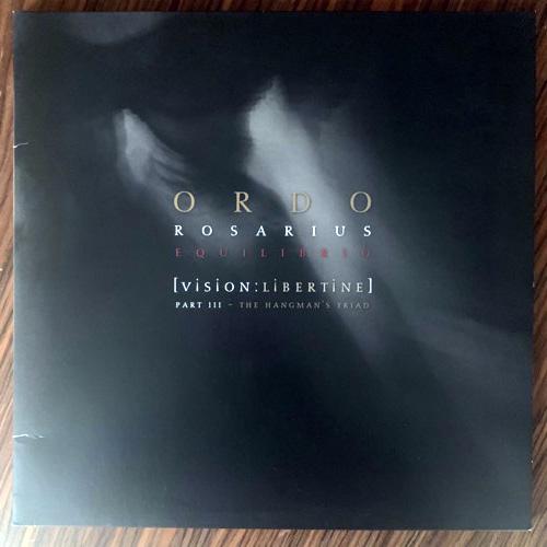 ORDO ROSARIUS EQUILIBRIO [Vision:Libertine] Part III - The Hangman's Triad (Black, red vinyl) (Out of Line - Germany original) (VG+/EX) 2LP