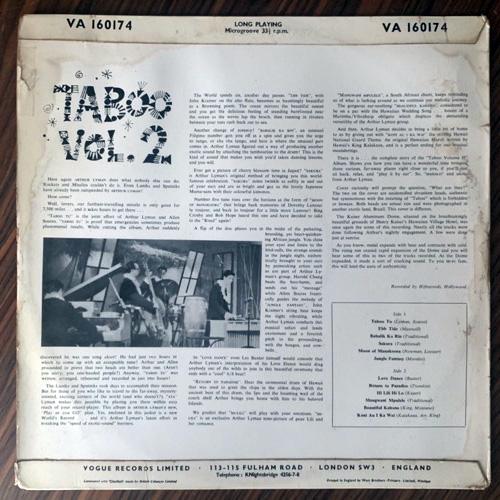 ARTHUR LYMAN Taboo Vol. 2 (Vogue - UK original) (VG-/VG+) LP
