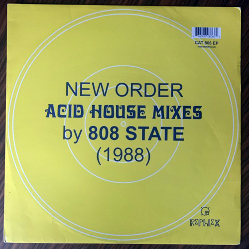 """NEW ORDER/808 STATE New Order Acid House Mixes By 808 State (1988) (Rephlex - UK original) (VG+/VG) 12"""""""