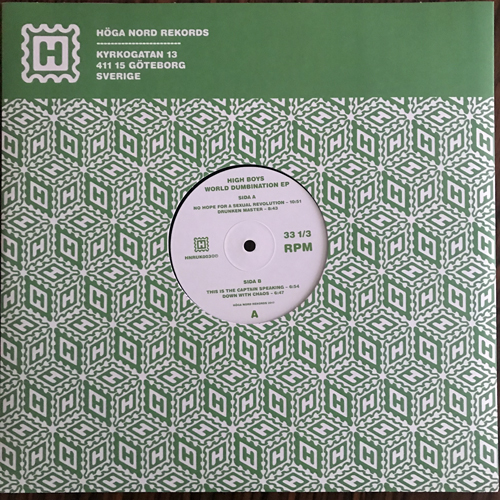"HIGH BOYS World Dumbination EP (Höga Nord - Sweden original) (NM) 12"""