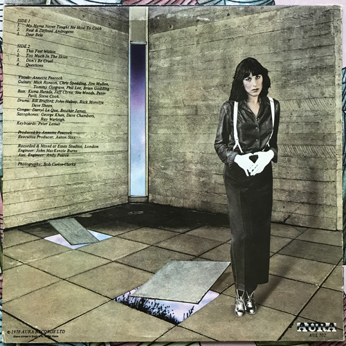 ANNETTE PEACOCK X-Dreams (Aura - UK original) (VG/EX) LP