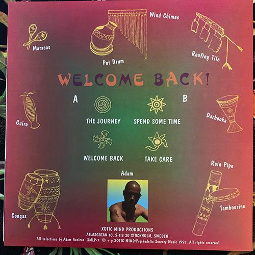 ADAM AXELZON Welcome Back! (Xotic Mind - Sweden original) (EX) LP
