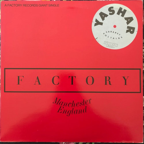 CABARET VOLTAIRE Yashar (Factory - UK original) (VG+) 12""
