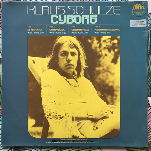 KLAUS SCHULZE Cyborg (Brain - Germany later 70's reissue) (VG+/EX) 2LP