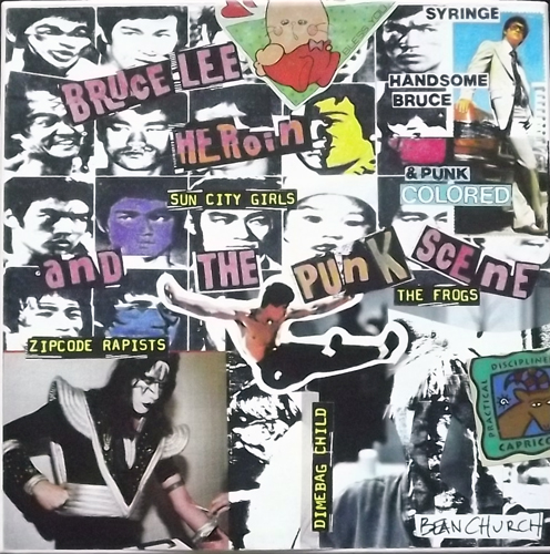 "VARIOUS Bruce Lee, Heroin, And The Punk Scene (Coloured vinyl) (Massacre At Central Hi - USA original) (VG+/EX) 3x7"" BOX"
