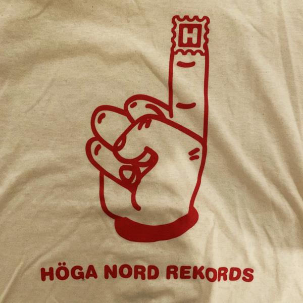 HÖGA NORD REKORDS Logo (S) (USED) T-SHIRT