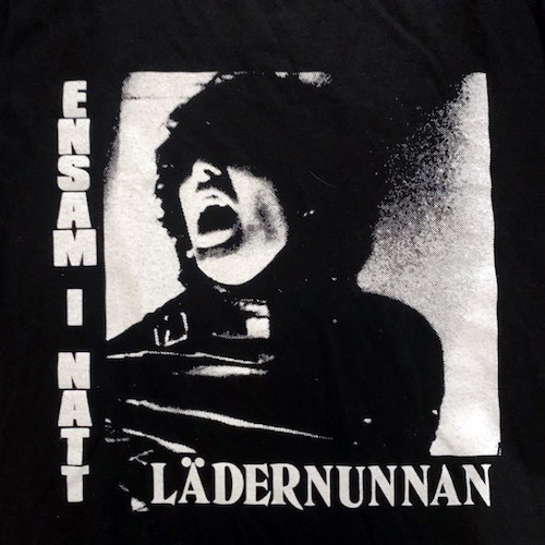 LÄDERNUNNAN / THE LEATHER NUN Ensam I Natt (S) (USED) T-SHIRT