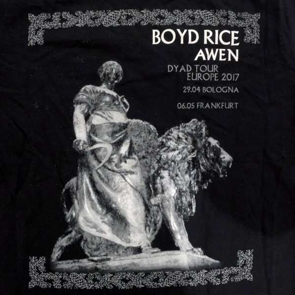 BOYD RICE (NON) / AWEN Europe 2017 (Ladies S) (USED) T-SHIRT