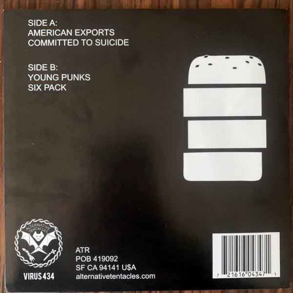HARD-ONS WITH NEIL HAMBURGER American Exports (Alternative Tentacles - USA reissue) (EX) 7""
