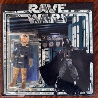 "VARIOUS Rave Wars (Red vinyl) (Rave Wars - UK 2013 repress) (EX) 7"""
