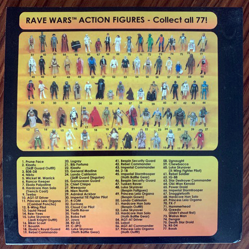 VARIOUS Rave Wars (Red vinyl) (Rave Wars - UK 2013 repress) (EX) 7""