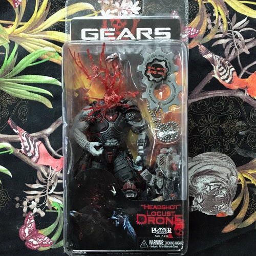"GEARS OF WAR ""Headshot"" Locust Drone Figure"