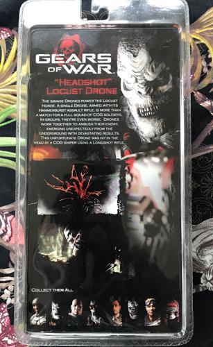 """GEARS OF WAR """"Headshot"""" Locust Drone Figure"""